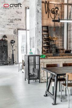 Interior design, decoration, loft, furniture,  CRAFT INDUSTRY Store by Paulina Arcklin, via Behance
