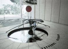 "ephemeralol: "" Alexander Calder Mercury Fountain For many years, the world's greatest source of mercury were the mines at Almadén, Spain, which produced some 250,000 metric tons of mercury over nearly..."