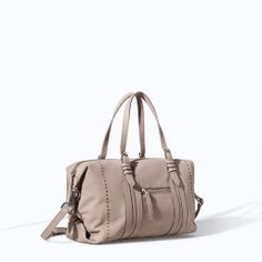 Image 2 of MINI LEATHER BOWLING BAG from Zara