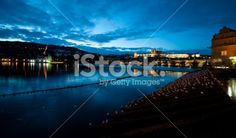 Charles Bridgewide view at dusk Royalty Free Stock Photo