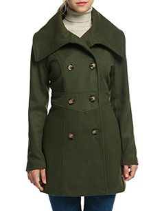 Bcbgeneration Woman's Cameron Taupe Wool Leather Trim Wrapped Belted Trench Coat (XS) ~ Wool & Pea Coats ~ Women's Fashion Magazine - Official Site Pea Coats Women, Bcbgeneration, Army Green, Trench, Double Breasted, Wool Blend, Taupe, Women's Fashion, Magazine