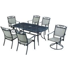 Hampton Bay Santa Maria 7-Piece Patio Dining Set