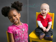 candid preschool portraits on yellow chair :: Preschool Photos ::  Glimpses of Soul Photography - Minneapolis St. Paul Photographer