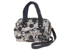 Mickey Mouse Quilting Quilted Boston Overnight Bag Black Disney Store JAPAN