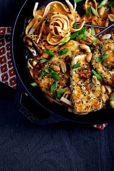 Recipes for Ethical Vegan: Fire Noodles with Crispy Tofu. Easy flavourful meal, great for celebrations and party. Vegan, vegetarian, and meat free! Tofu Recipes, Asian Recipes, Whole Food Recipes, Vegetarian Recipes, Dinner Recipes, Cooking Recipes, Healthy Recipes, Veggetti Recipes, Vegan Vegetarian