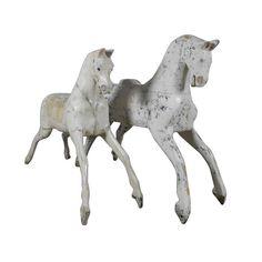 19th Century Rocking Horse Fragments   1stdibs.com