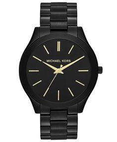 A black and gold watch that goes with just about everything, Micheal Kors