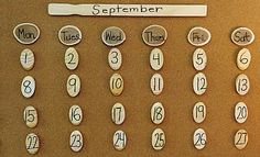 Simple rustic calendar -- but could also use for birthdays?!