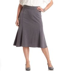 midi -Sag Harbor Perfect Fit Gored Skirt - Women's Plus $33.60