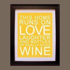 Really good wine vintage style poster by sallyandjane on Etsy