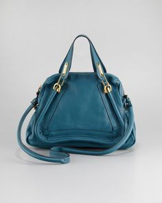 Paraty Bag, Medium by Chloe at Neiman Marcus.  Another classic purse for fall. This peacock blue is perfect for those windy fall days! #NMFallTrends