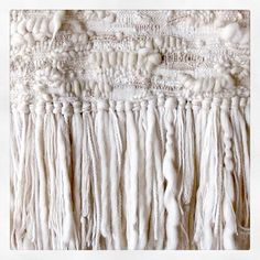 Favorite fringe. An oldie but a goodie! . . #tbt #design #fringe #yarnhoarder #weaving #wovenart #wallhanging #texture #neutrals #vintageyarn #weaveweird #fiberart