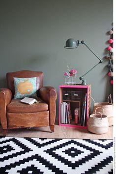#vintage #stoel en muurkleur | pour mes jolis mômes