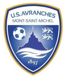 Logo of US Avranches Mont-Saint-Michel Football Team Logos, Football Soccer, Soccer Teams, Soccer Stuff, Sports Logos, Baseball, Fifa, Mont Saint Michel, Soccer World