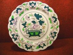 BOOTHS  GREEN LOTUS  10.5  DINNER PLATE  Pat: A8082