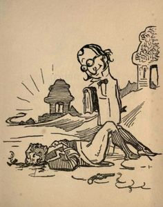 Lord Clive - G. K. Chesterton's illustrations for 'Biography for Beginners' by E. C. Bentley