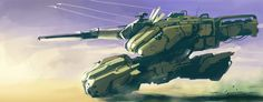hovering-tank by dasAdam.deviantart.com on @DeviantArt