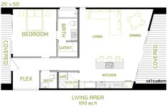 Modern Guest House Plans | ... modern plan from $ 199 the minimalist is a small modern house plan