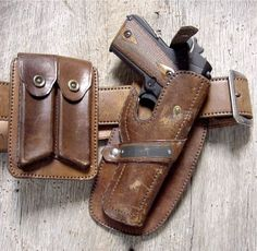 Vintage 1911 Holster, Magazine Pouches, and Belt 1911 Leather Holster, 1911 Holster, Custom Leather Holsters, Gun Holster, Cowboy Holsters, Western Holsters, Western Belts, Revolver, Leather Books