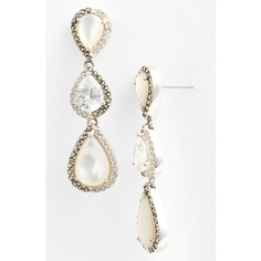 Judith Jack 'Amore' Linear Earrings ($150) ❤ liked on Polyvore