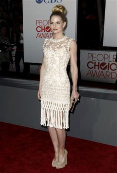 Jennifer Morrison arrives at the 2012 People's Choice Awards at Nokia Theatre L.A. Live in Los Angeles on Jan. 11, 2012