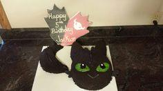Jackson's  toothless dragon cake