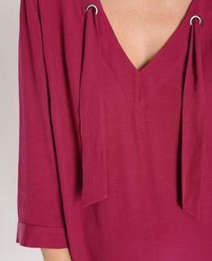 BURTON - Robes & Jupes - Robe housse à lavallière - BRUYERE RO