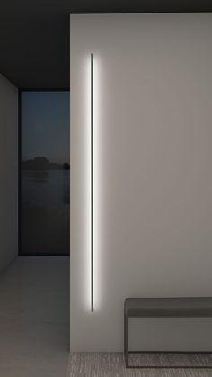 Thin line indirect wall light by sonneman a way of light 2814 16 3 Minimalist Interior, Minimalist Decor, Interior Modern, Minimalist Home Design, Modern Interiors, Diy Interior, Interior Walls, Modern Minimalist, Architectural Lighting Design