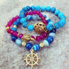 Summer bracelets! Facebook: Audréanne Lessard Bijoux