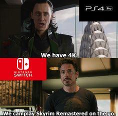 PS4 Pro vs Nintendo Switch