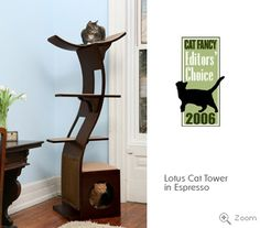Lotus Cat Tower from TheRefinedFeline.