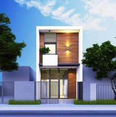 50 Small Two-storey House Designs That Can Be Fitted In Small Lot Area Minimal House Design, Modern Small House Design, Minimal Home, Cool House Designs, Bungalow House Design, House Front Design, Duplex House, Small Cottage Designs, Beautiful Small Homes