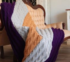 Make a zensation knitted blanket in one or several colours with this knitting pattern. Cable Knit Blankets, Merino Wool Blanket, Crochet Blankets, Free Knitting, Baby Knitting, Afghan Blanket, African Design, Knitting Patterns, Blanket Patterns