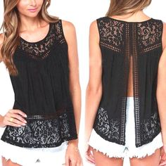 Summer Hollow Out Crochet Lace Tank Top Price $28.26 AUD Click the link in my bio ---> @soulkreedclothing and grab yours today while stocks last. Sign up to our newsletter and get 15% off all purchases! Decoration: Lace Clothing Length: Regular Pattern Type: Solid Fabric Type: Lace Material: Cotton,Polyester Tops Type: Tank Tops #womensfashion #womensstyle #womenstyle #womenswear #womensclothing #womensclothes #womenstops #womenshirt #girlstops #girlsshirts #girlstrend ..