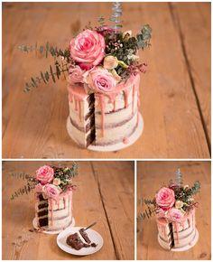 Hochzeitstorte selber machen: Naked Cake mit Eukalyptus