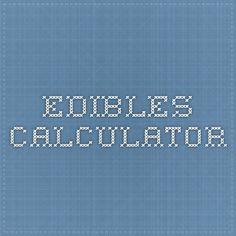 edibles calculator
