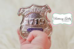 Police Theme Newborn Baby Photography | Brittany Gidley Photography LLC