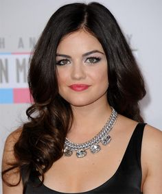 Lucy Hale - Formal Long Wavy Hairstyle