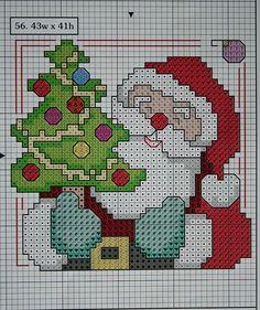 Santa Claus Tapstry Pattern