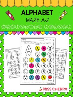 Teacher Created Resources, Teaching Resources, Printable Mazes, Beginning Sounds, Alphabet Worksheets, Teacher Favorite Things, Letter B, Learning Centers, Things To Think About