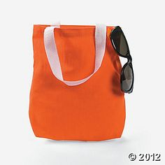 Favor Bags - Orange Tote Bags