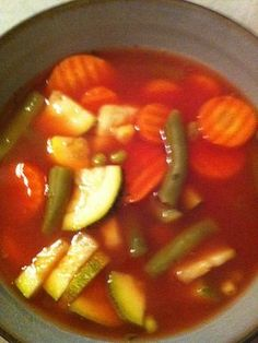 This homemade veggie soup is great for a cold winter's day!