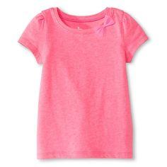 Toddler Girls' Bow Short Sleeve T-Shirt Pink - Circo, Toddler Girl's