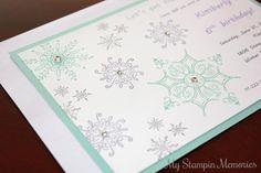 Winter Frozen Snowflake Handmade Birthday by MyStampinMemories, $25.00