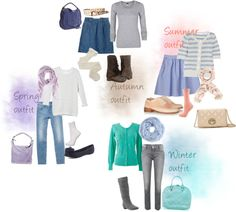 """""""Spring, summer, autumn and winter outfits"""" by keekii on Polyvore"""
