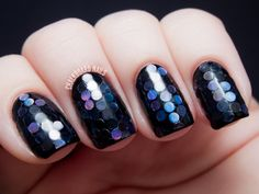Chalkboard Nails: #31DC2013 Day 17: Midnight Mermaid Glitter Placement