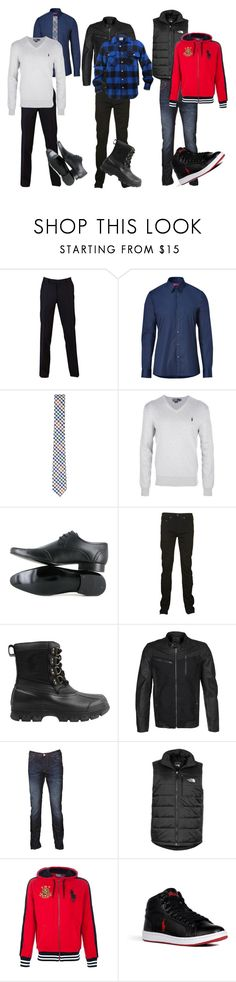 """Spiffy"" by sophisticated106 ❤ liked on Polyvore featuring Sand, HUGO, River Island, Polo Ralph Lauren, Vegetarian Shoes, True Religion, Maze, Paul Smith, The North Face and Ralph Lauren Blue Label"