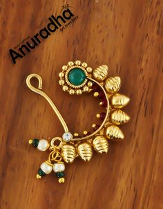 Green Colour Gold Finish Designer Nathni For Women Green Colour Gold Finish Designer Nathni For Women. Nose Jewelry, Jewelry Art, Bridal Jewelry, Jewelry Gifts, Jewelery, Silver Payal, Rakhi Gifts For Sister, Bridal Nose Ring, Diamond Nose Stud