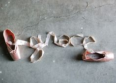 Grace, pointe shoes.