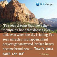 What faith can do...